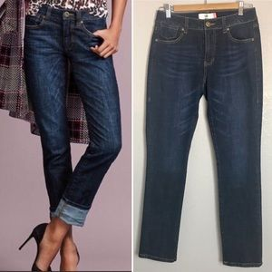Cabi High Straight Blue Jeans Style #3386